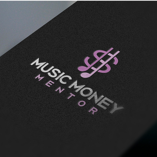 Dollar sign logo with the title 'Logo for music money mentor'