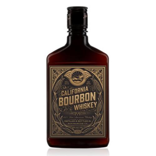 Label with the title 'Design a retro Bourbon label'