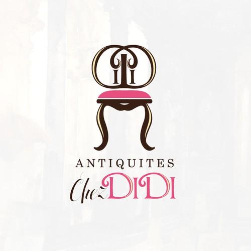 Antique design with the title 'Antiques Shop LOGO Design'