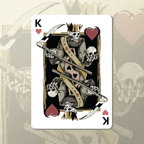 Death design with the title 'King of Hearts'