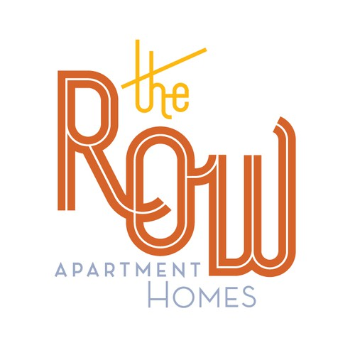 Bespoke logo with the title 'The Row Apartment Homes'