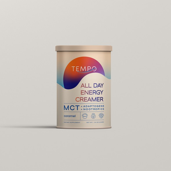 Vegan design with the title 'Packaging Design fo TEMPO'