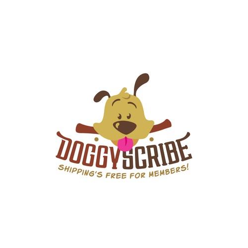 Dog design with the title 'Doggy Scribe'