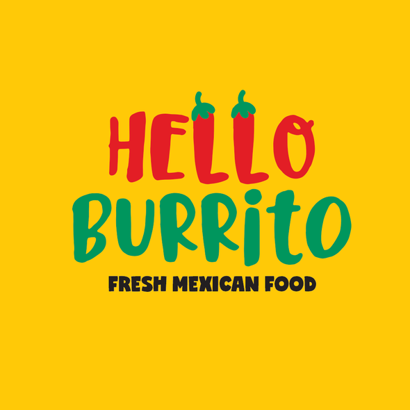 Burrito logo with the title 'Logo for Mexican restaurant'