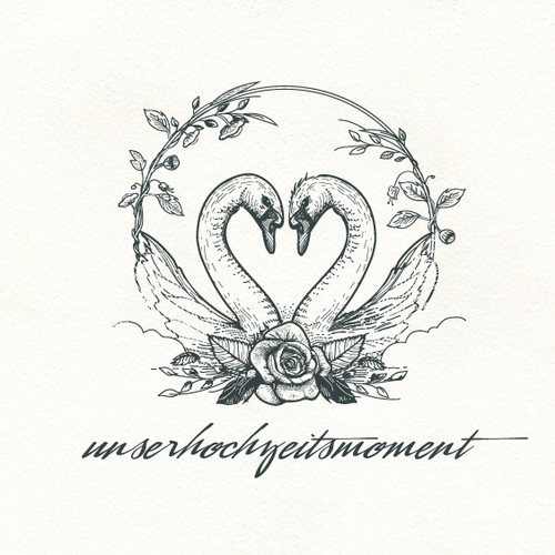 Plant design with the title 'Unserhochzeitsmoment logo'