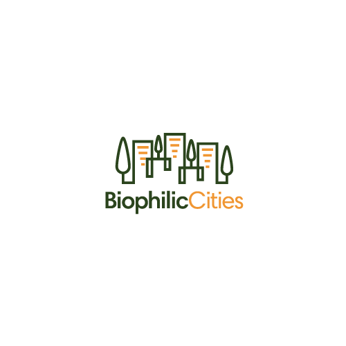 Urban design with the title 'Create a dynamic urban nature logo for Biophilic Cities'