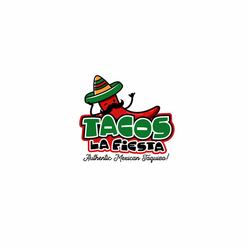 Burrito logo with the title 'Tacos Logo'