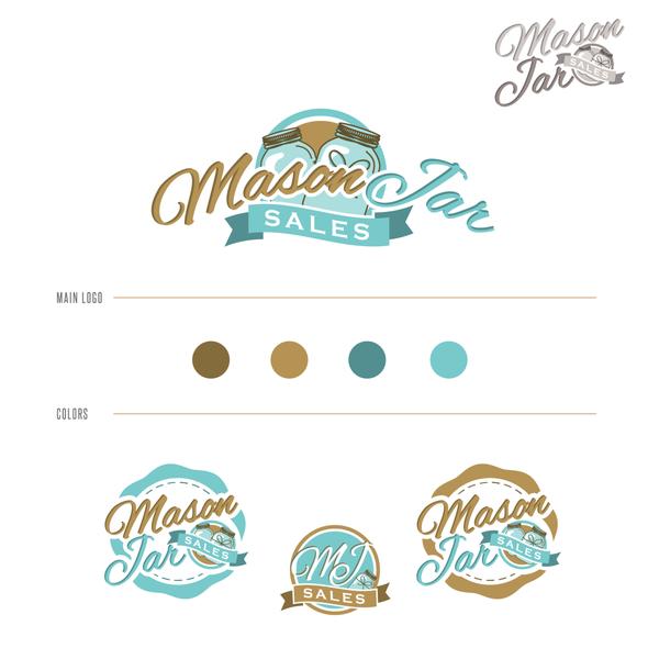 Jar logo with the title 'Create a beautiful & vintage logo for MasonJarSales.com.au'
