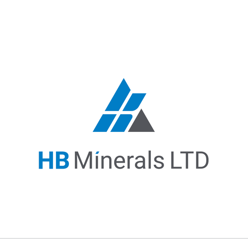 Material logo with the title 'A simple and modern logo to represent a company of minerals and aggregates.'