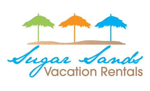 Vacation logo with the title 'Sugar Sands'