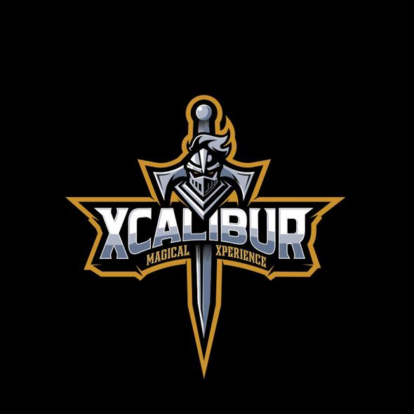 Magic design with the title 'Excalibur logo'