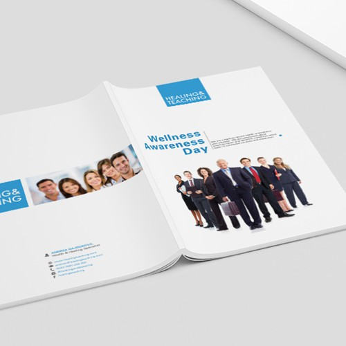 Refined design with the title 'Brochure for Wellness Awareness programme'