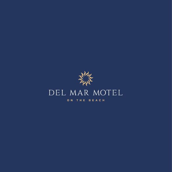 Motel design with the title 'Del Mar Motel Logo'