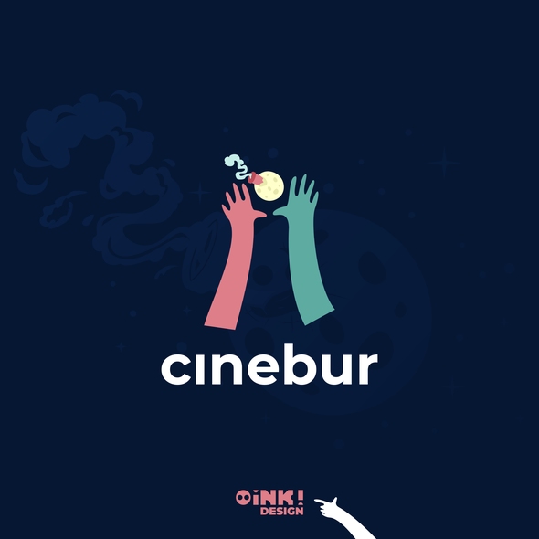 Cinema brand with the title 'Logo and brand for Cinebur'