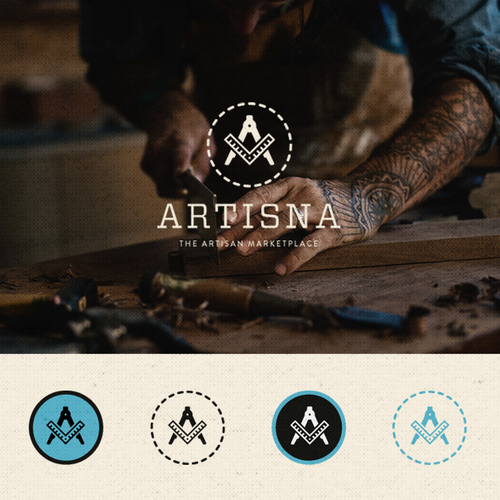 Icon logo with the title 'Artisna.com // The Artisan Marketplace™. Lets create the next ETSY!'