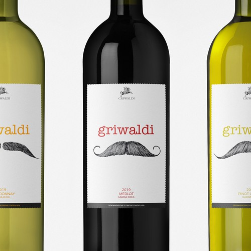 Drink label with the title 'Griwaidi - Garda DOC'