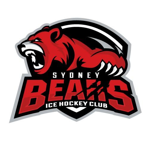 Hockey puck logo with the title 'Sydney Bears Hockey Logo'