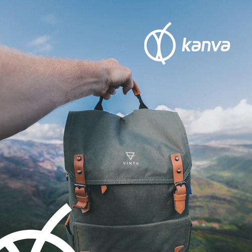 Luggage design with the title 'Kanva logo design'