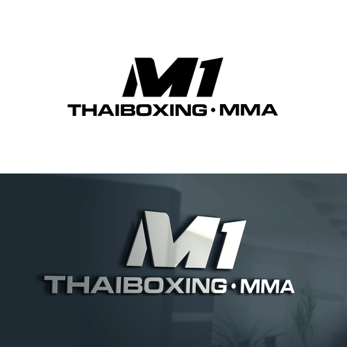 Muay Thai design with the title 'M1 Thaiboxing MMA'