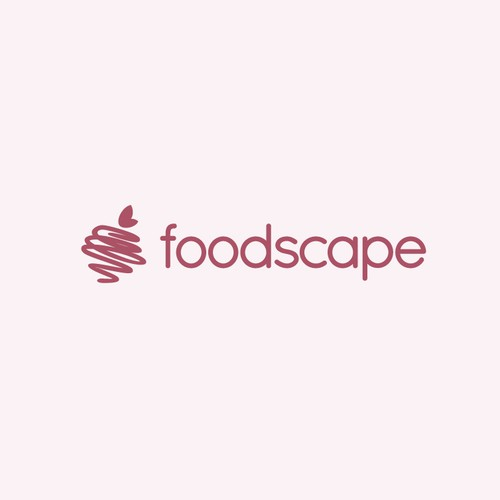 Food logo with the title 'foodscape'