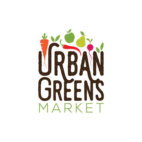 Pepper design with the title 'Urban Greens Market'
