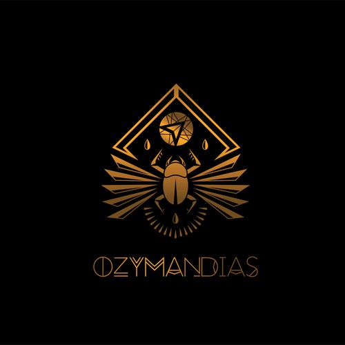 Gold artwork with the title 'Desktop Wallpaper for Netrunner OS 16 - Ozymandias'