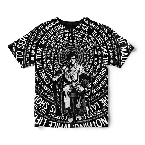 African American design with the title 'HUEY P NEWTON'