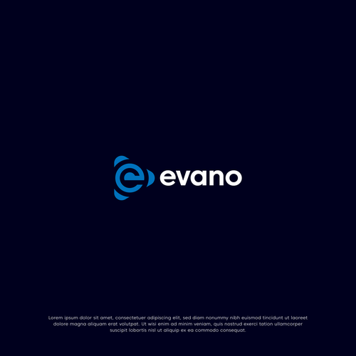 Play brand with the title 'Evano Logo Design'
