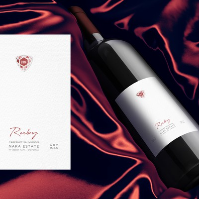 Wine label Ruby
