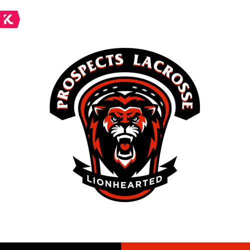 Roaring logo with the title 'Logo proposal for Lacrosse Camp'