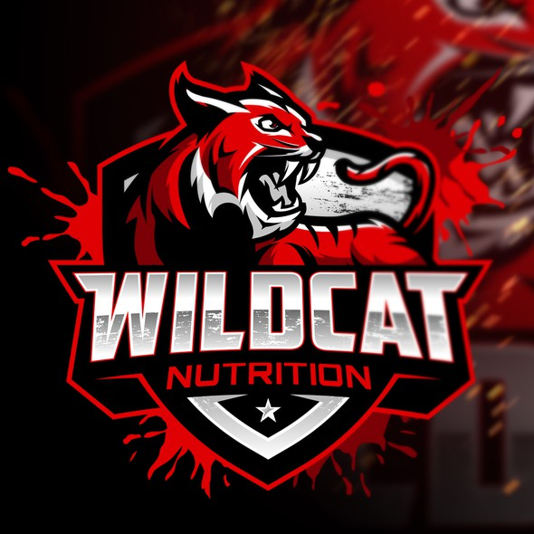 Health and fitness logo with the title 'Wildcat Nutrition'