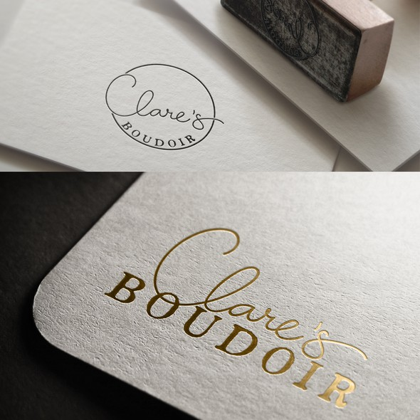 Flirty design with the title 'logo for boudoir photographer'