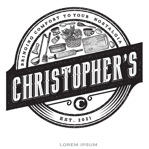 Vintage logo with the title 'Christopher's '