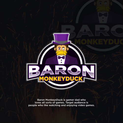 Top hat logo with the title 'Monkeys Duck'