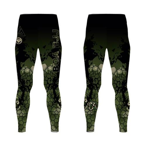 Leggings design with the title 'BJJ Spats / Yoga Pant Design'
