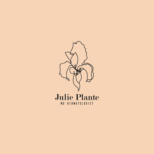 "Iris design with the title 'Logo concept for ""Julie Plante, MD Dermatologist"".'"