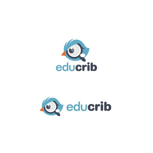 Education design with the title 'Logo designe for an online educational portal for course and college exploration'