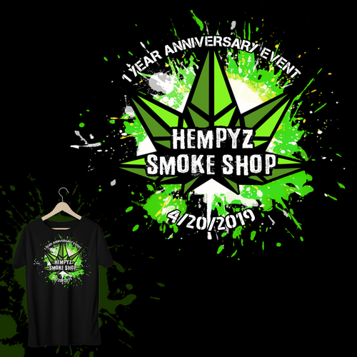 Anniversary t-shirt with the title 'Smoke Shop Anniversary T-shirt '