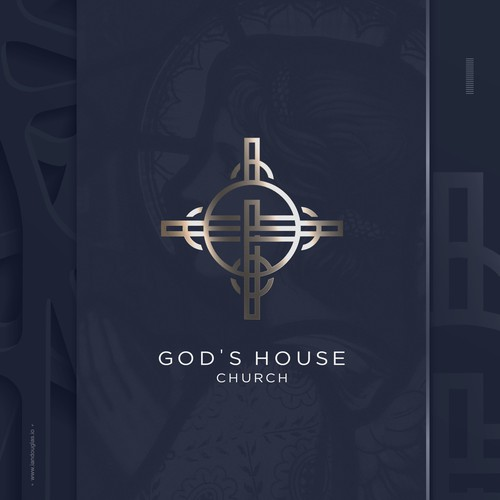 Powerful design with the title 'Strong icon for a community church in New Orleans'