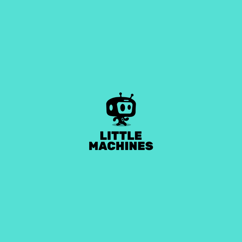 Black and blue logo with the title 'little machines'