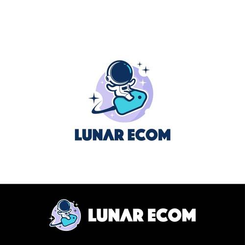 Logo with the title 'cute logo for Lunar Ecom'