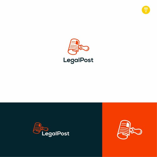 Newspaper design with the title 'Hammer Logo for LegalPost'