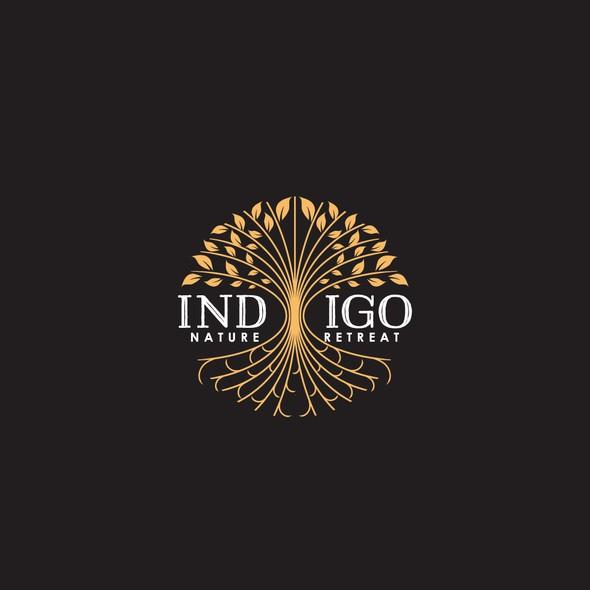 Retreat design with the title 'INDIGO Nature Retreat'