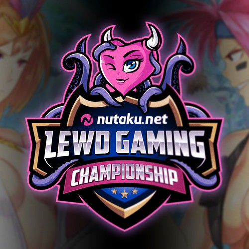Horn design with the title 'Lewd Gaming Championship'