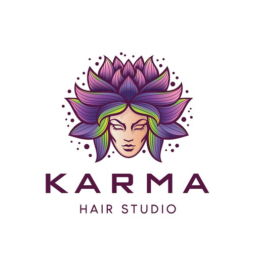 Purple design with the title 'Karma '