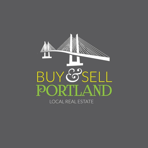 Real estate logo with the title 'Logo for a Portland metro area real estate agency'