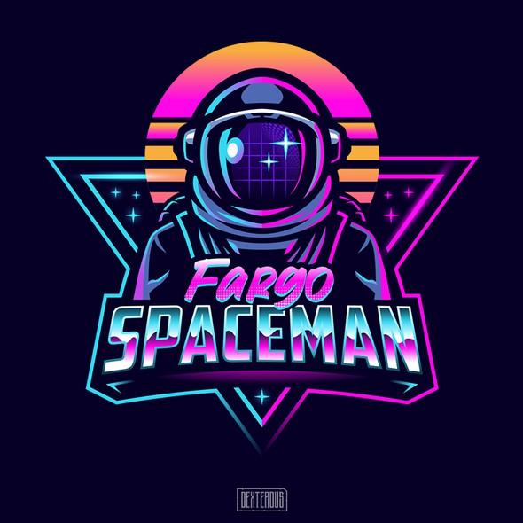 Cyberpunk logo with the title 'Fargo Spaceman'