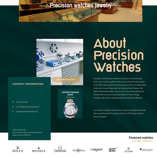 Weebly design with the title 'Luxury Selling watch landing page'