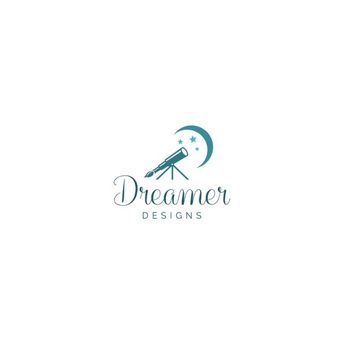 Positive logo with the title 'Dreamer Designs'
