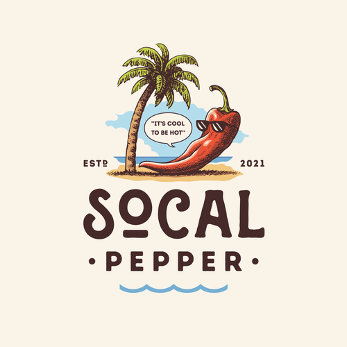 Tropical leaf logo with the title 'Socal Pepper'